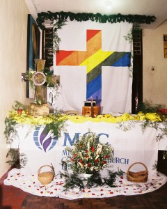 Altar at MCC Quezon City