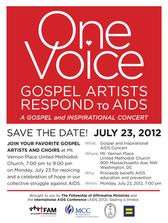 gospel - Save the Date:  23 July 2012 - AIDS CONFERENCE CONCERT!