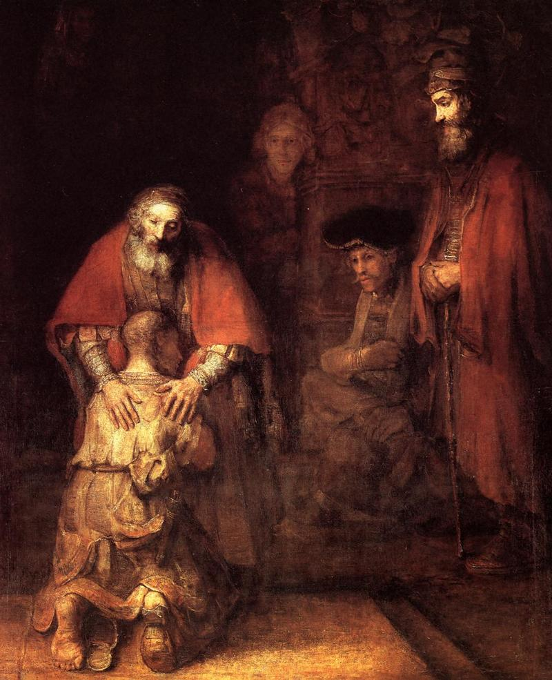 The Return of the Prodigal Son by Rembrandt(Image credit: wikipaintings.org)
