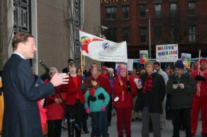 MCC Hartford members at a Marriage Equality Rally
