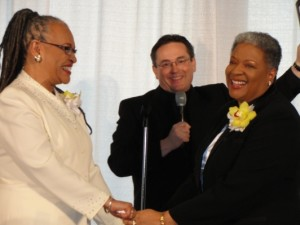 Marriage Ceremony of Rev. Elder Darlene Garner and Rev. Candy HolmesOfficiated by Rev. Dwayne Johnson, Senior Pastor, MCC DC