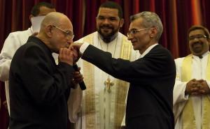Rev. Cristiano Valerio (MCC Development coordinator for Brazil) officiates at a wedding in Brazil.