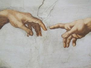 Detail from The Creation by Michelangelo di Lodovico Buonarroti Simoni