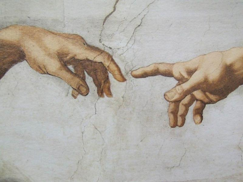 Detail from The Creation by Michelangelo di Lodovico Buonarroti Simoni