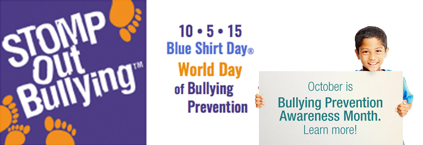 Bullying Prevention 2015 - Blue Shirt Day - World Day of Bullying Prevention 5th Oct 2015