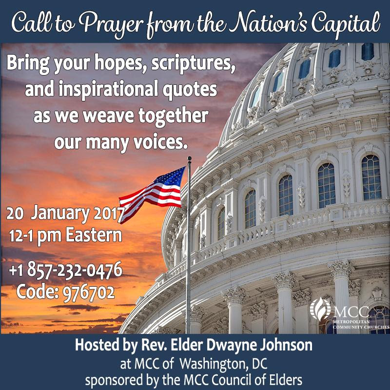 MCC Call to Prayer - MCC Call to Prayer from the Nation's Capital