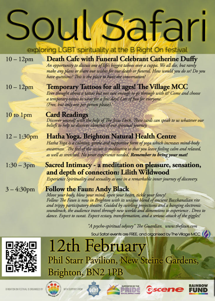 Soul Safari Poster A3 12 Feb - The Village MCC host faith days at B Right On Festival in Brighton