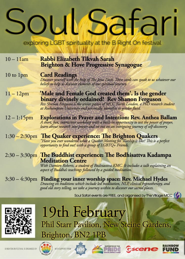 Soul Safari Poster A3 19 Feb - The Village MCC host faith days at B Right On Festival in Brighton