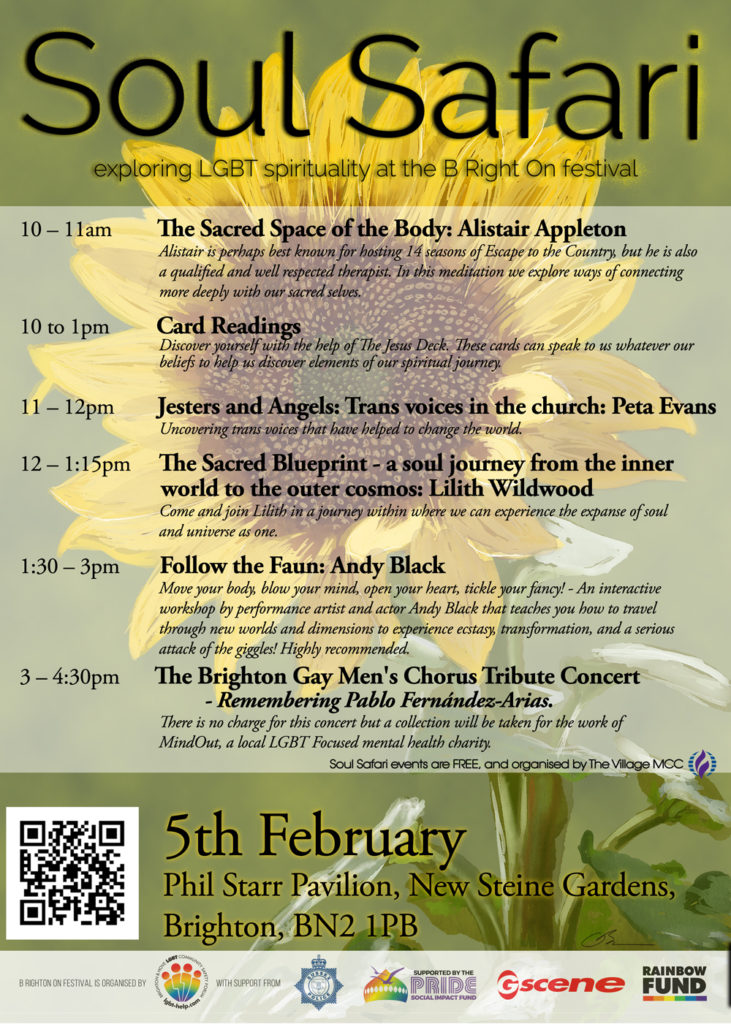 Soul Safari Poster A3 5 Feb - The Village MCC host faith days at B Right On Festival in Brighton